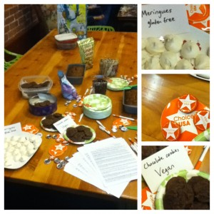 """The Claremont College chapter knows how to bring people out! Goodies from a showing of the film """"Trust Black Women."""""""