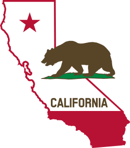 California_-_Outline_and_Flag_-_Solid