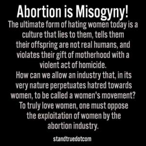 abortion is misogyny